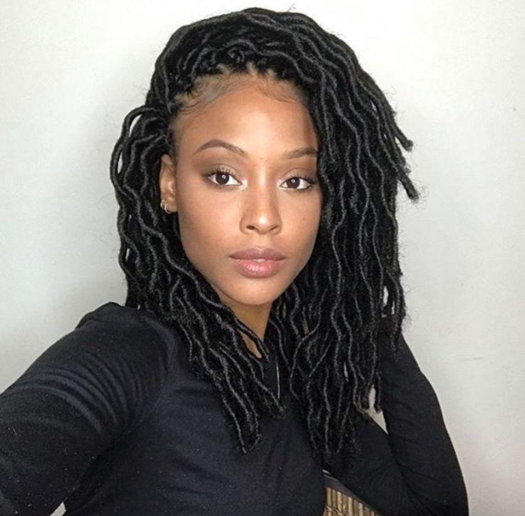 Gorgeous faux locs @ashleighgisele - https://blackhairinformation.com/hairstyle-gallery/gorgeous-faux-locs-ashleighgisele/