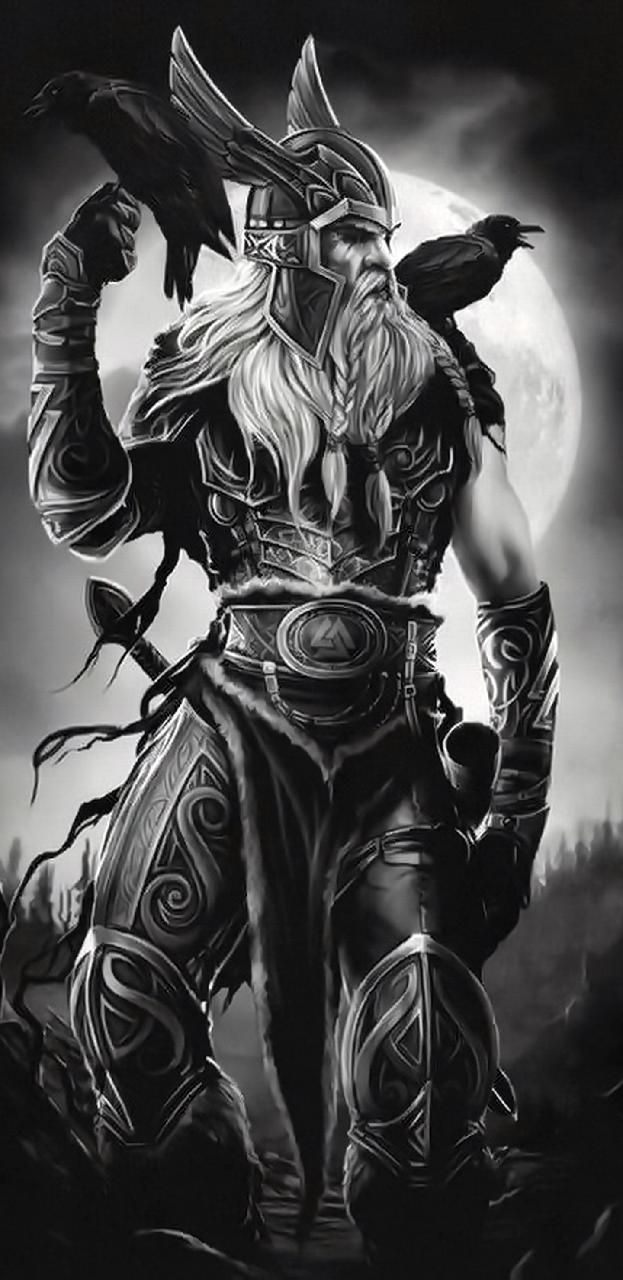 Download Odin And His Ravens Wallpaper By Puggaard 05 Free On Zedge Now Download Fre Viking Warrior Tattoos Norse Mythology Tattoo Warrior Tattoos