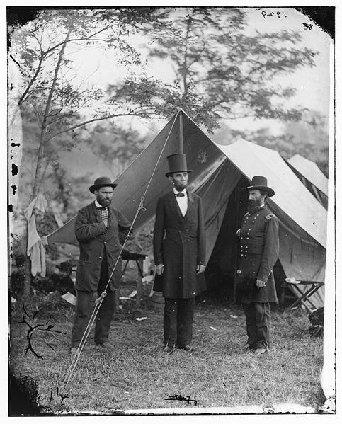 Allan Pinkerton, President Lincoln, and General John A. McClernand, Antietam, Maryland, October 3, 1862