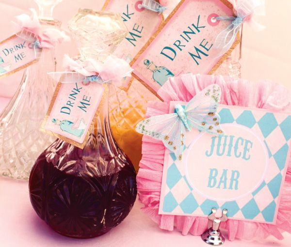 Vintage Alice in Wonderland Tea Party // Hostess with the Mostess®  Alice in wonderland pastels theme birthday party ideas
