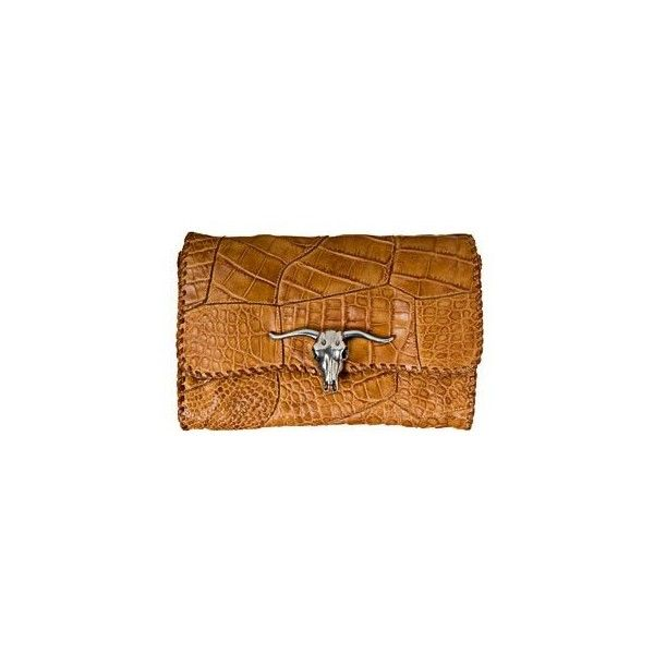 Pochette Ralph Lauren - Marie Claire ❤ liked on Polyvore featuring bags, handbags, clutches, ralph lauren, ralph lauren handbags, ralph lauren purses, brown purse and brown handbags