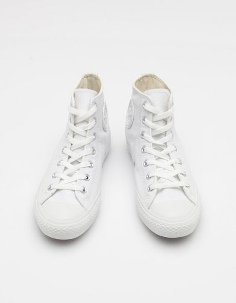Hi All Star White Leather