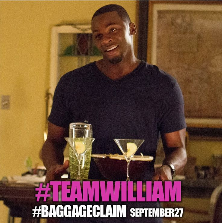 Derek Luke plays William in BAGGAGE CLAIM!  Will he be the prince charming in the end?  Find out FRIDAY!