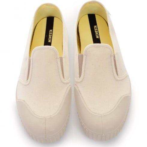 Novesta London   Slip-on Beige Canvas Shoes