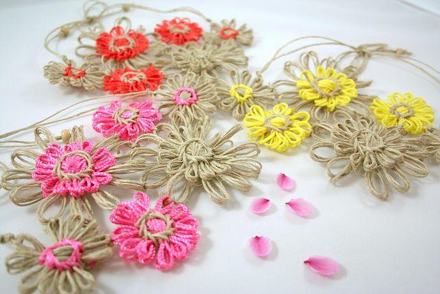 Group3 | Flickr - Photo Sharing! Made using a vintage flowerloom   #flowerloom #weaving #craft