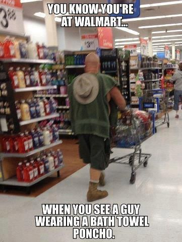 Oh, I've seen far worse on People Of Wal*Mart. At least he has shorts on, those shorts fit and they cover his tush!