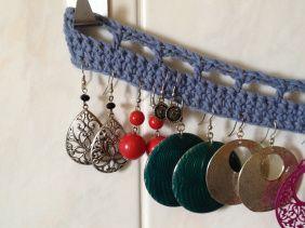 porte boucle d'oreille tuto #crochet #tuto #porteboucledoreille