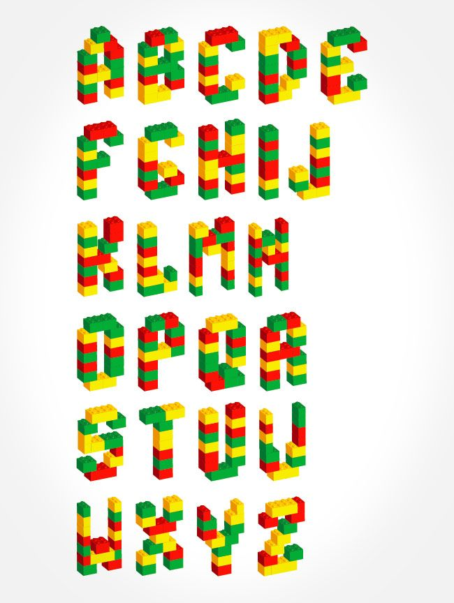 Constructing Letters with Lego Bricks