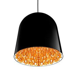 Flos Can Can Black/Amber Pendant Light