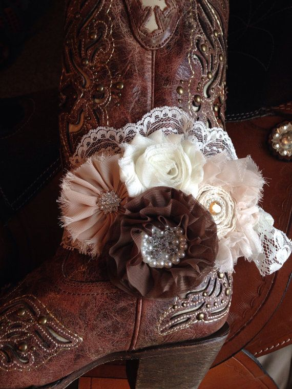 Lace Gypsy Boot Cuff Bracelet - Boot Bling - Boot Jewelry