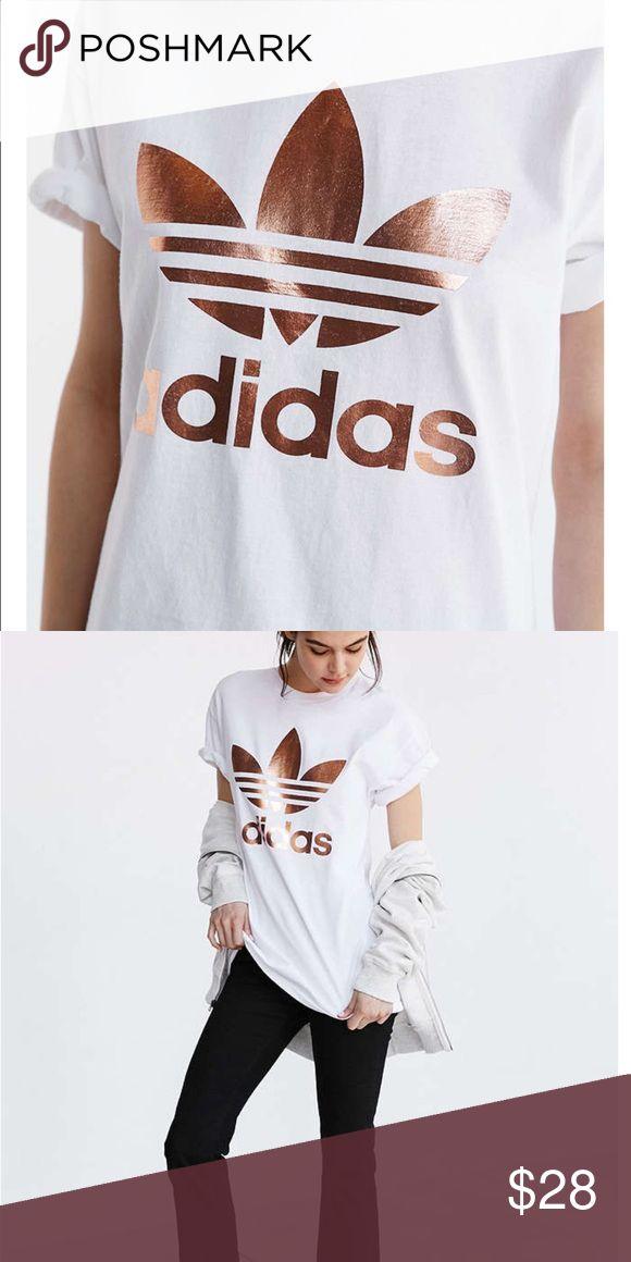 Urban Outfitters Rose Gold Adidas Shirt Urban Outfitters Rose Gold Adidas Shirt. Wore once Adidas Tops Tees - Short Sleeve