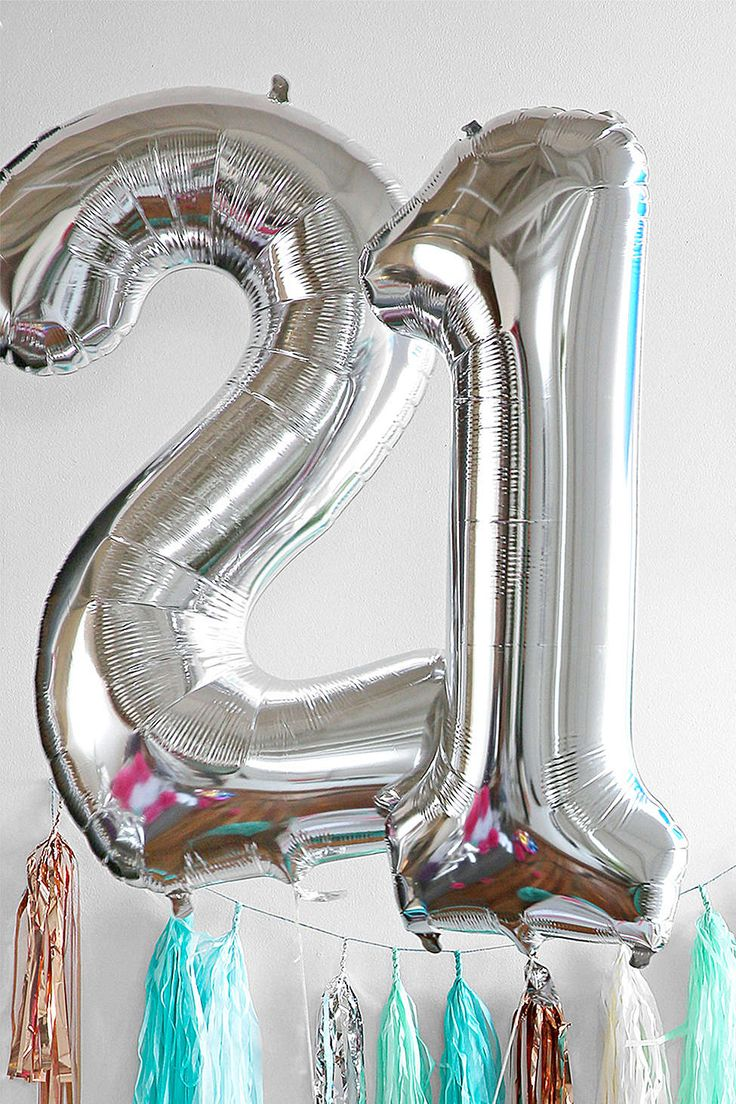Silver Number 18 Inch Party Balloon