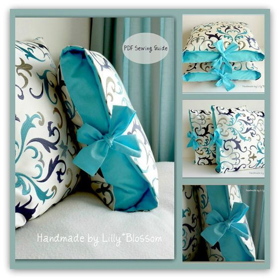 PDF Sewing Pattern Contrast Tied Cushion Cover