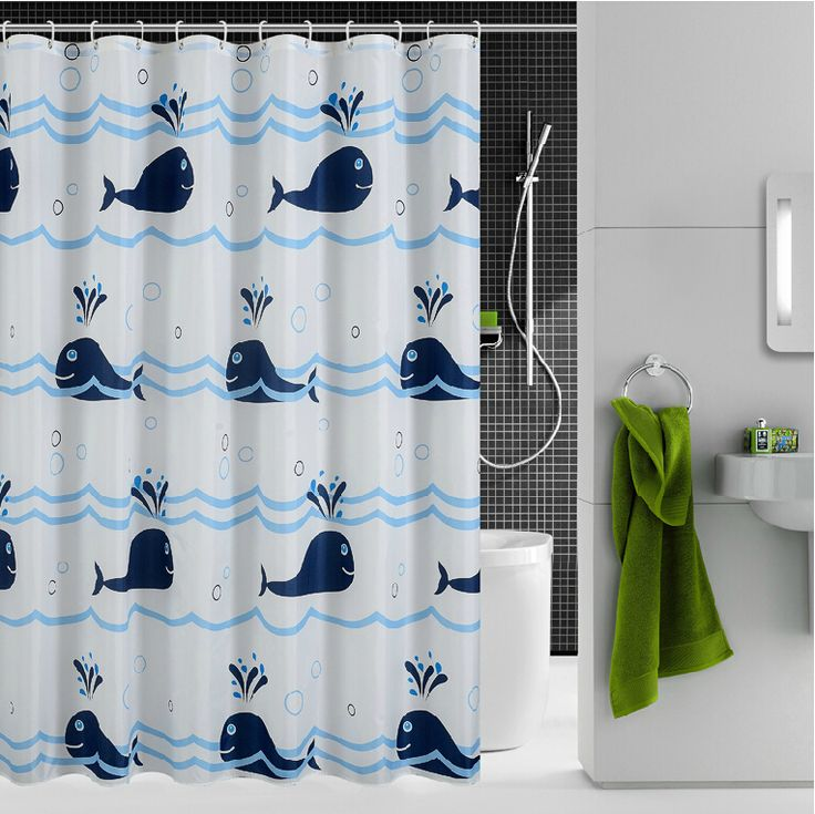 Whale Shower Curtain                                                       …
