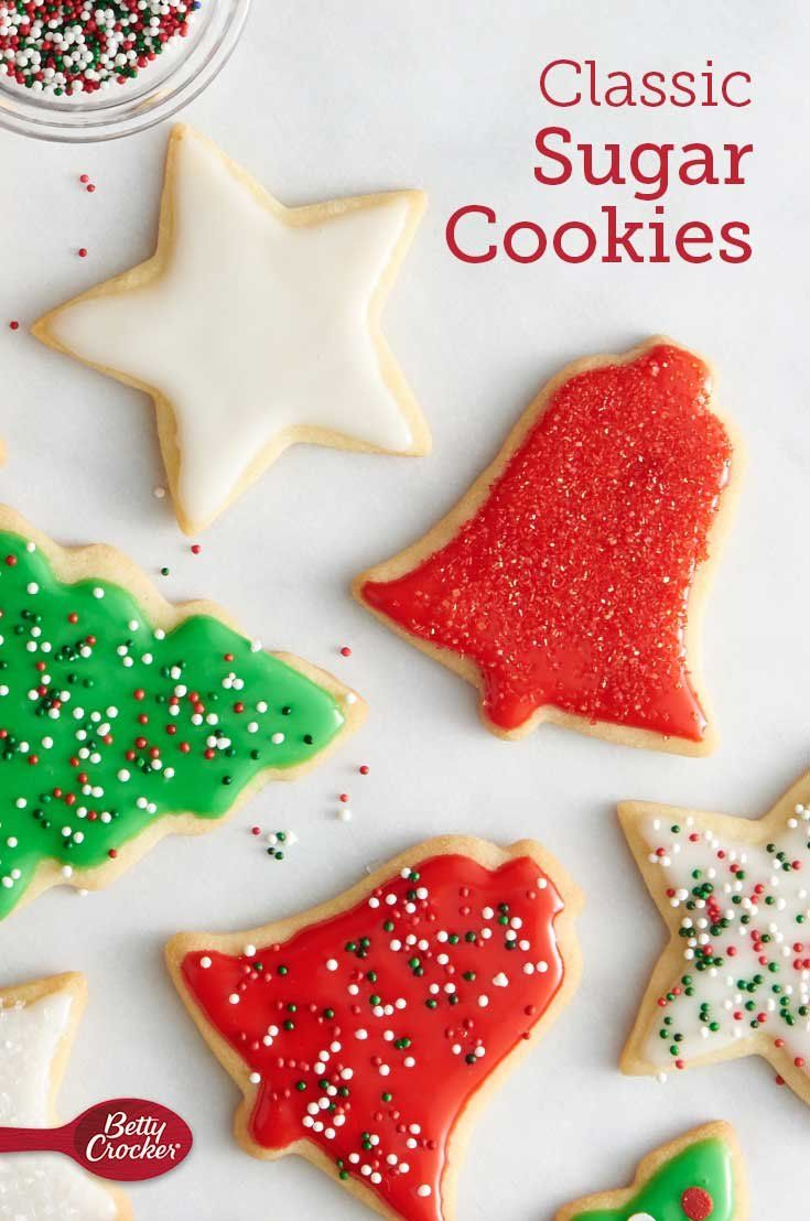 Classic Sugar Cookies Recipe Christmas Cookies Easy Sugar Cookies Betty Crocker
