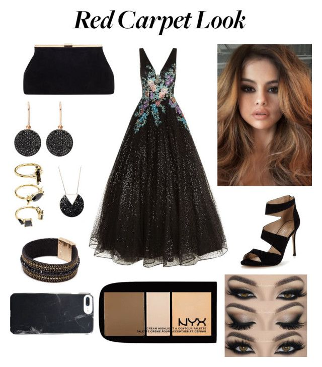 """""""Red Carpet Look"""" by sophiegrace1620 ❤ liked on Polyvore featuring Jovani, Carvela, Astley Clarke, Noir Jewelry and NYX"""