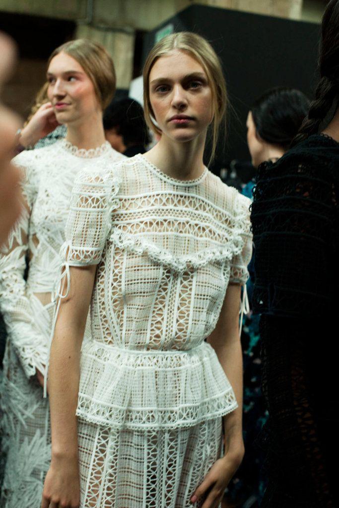 Vintage crochet lace 1970's peplum bib hippie wedding dress design inspiration // Erdem, Photo by Louise Damgaard