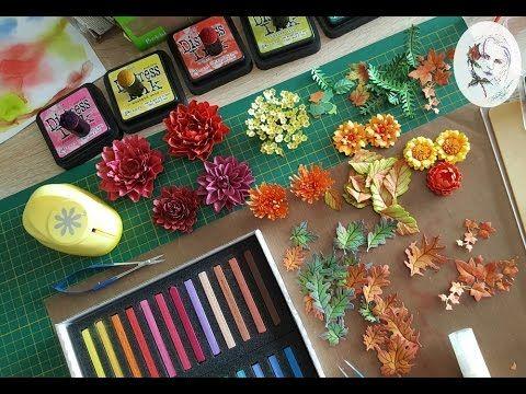Coronite de toamna cu flori din hartie | Petroschi Bianca Scrapbooking