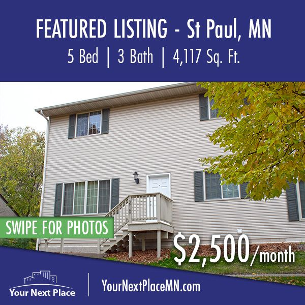 Featured Listing 210th North Avon Street In St Paul Minnesota 55104 2 500 Month Available Now You Rental Property Apartments For Rent Renting A House