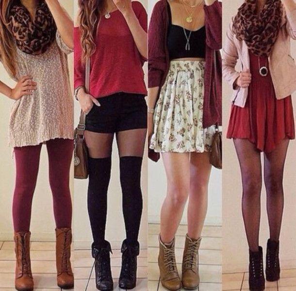 Roter schulterfreier Pullover mit schwarzen Jeansshorts - #Schwarz #Jean #Rot #Shorts ...