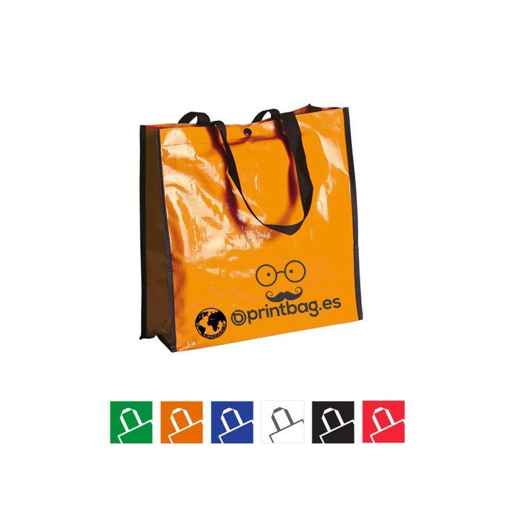 Bolsas color naranja biodegradables baratas para publicidad