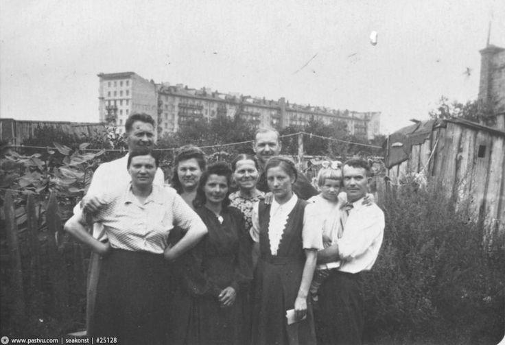 Фотография - Сокол. Вид на «Генеральский дом» со стороны Саловского переулка - Фотографии старой Москвы