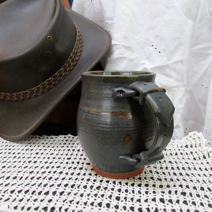 mug, buckle mug, pottery