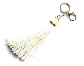 Rojtos táskadísz és kulcstartó fehér