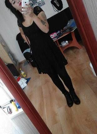 Kup mój przedmiot na #vintedpl http://www.vinted.pl/damska-odziez/krotkie-sukienki/10550571-czarna-koronkowa-rozkloszowana-sukienka