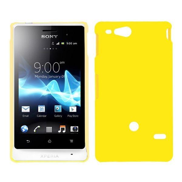 Hard Shell (Gul) Sony Xperia Go Deksel