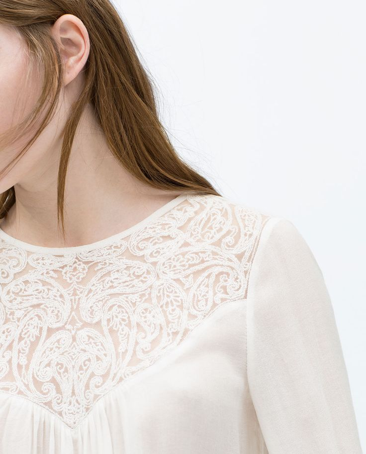 ZARA - WOMAN - COMBINED LACE TOP