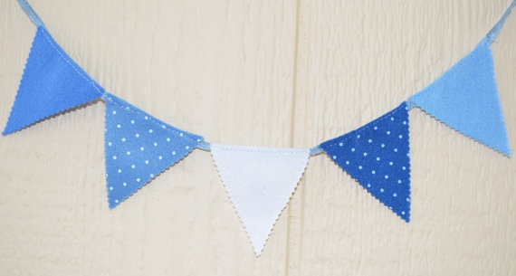 Fiesta mini banner Party 5 flags Garland 20 by IzabelleCollections, $9.00
