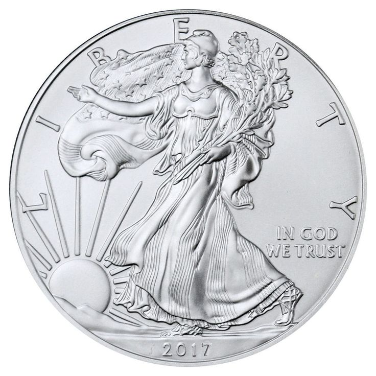 2017 $1 American Silver Eagle 1 oz BU coin (IN-STOCK)
