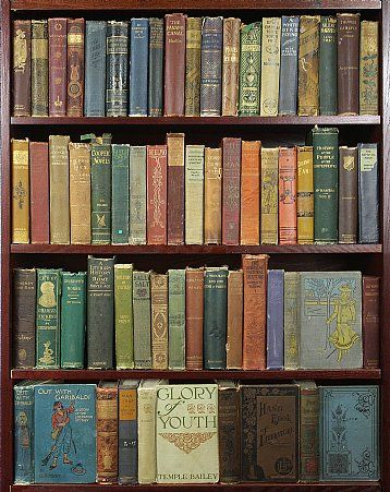 Books By the Foot - where you can buy distressed (and new) cloth or leather books. You can purchase by age, material or color! Awesome for decorating!