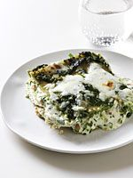 Bethenny Frankel's Skinny Pesto Vegetarian Lasagna.  Might try with eggplant slices in place of noodles-delish!