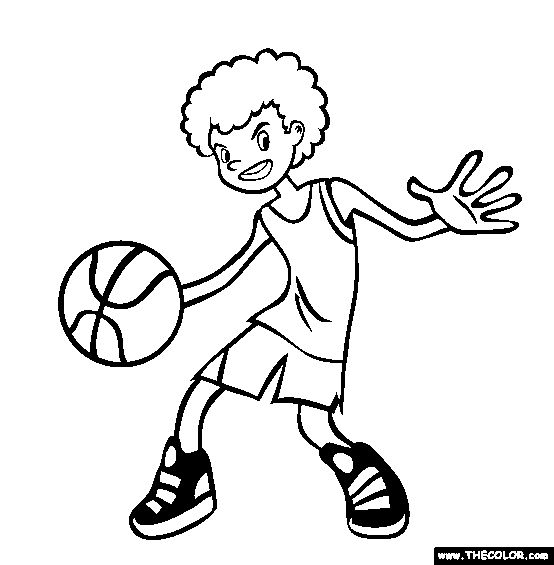 best basketball coloring pages - photo#20