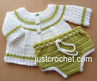 Free baby crochet pattern cute two piece set usa