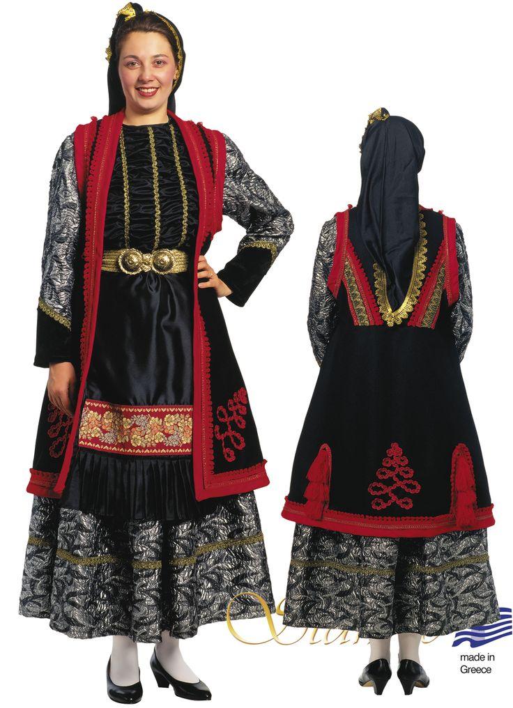 Greek traditional costume  epirus EPIRUS ZITSA WOMAN