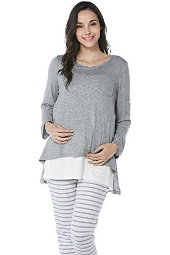 12634429ca853 Smallshow Womens Maternity Nursing Pajamas Set 2 Pcs Breastfeeding Top and  Pant ** See this great product.(It is Amazon affiliate link) #instagood