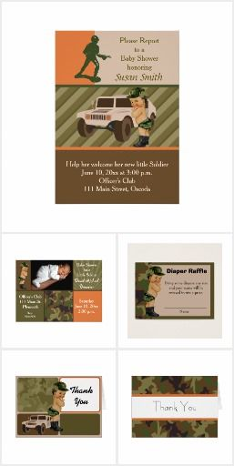 Army Green Camouflage Baby Shower