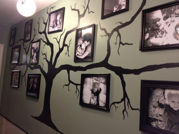 Family Tree Wall Decor Wall Art Family Art Ideas Creative Photo Display Home