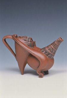 ceramic teapot - 034  Carol Wedemeyer