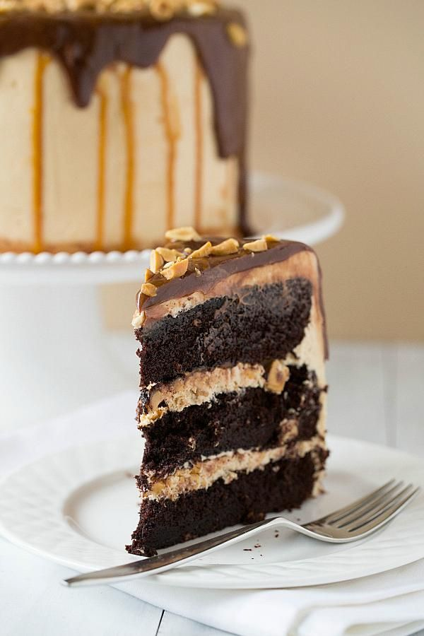 Snickers Cake   via Brown Eyed Baker