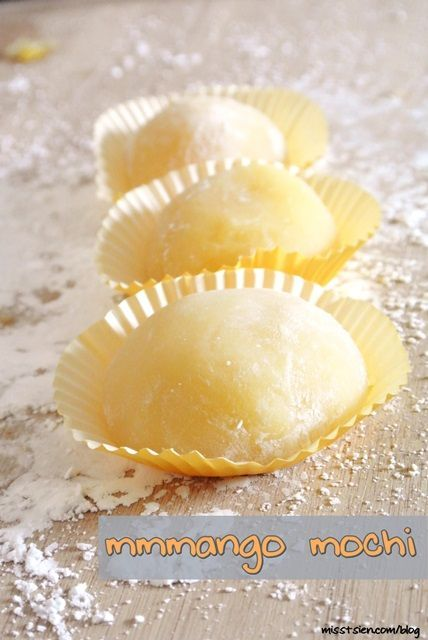 Mango Mochi {recipe} - I'll also try this with red bean paste in the center - one of my favorites!