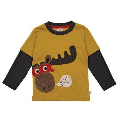 Frugi Παιδικό Απλικέ Μπλουζάκι με Διπλά Μανίκια – Ελάφι - Sunnyside