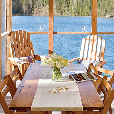Yes!House Dreams, Lakes House, House Breakfast, Breakfast Nooks, Beach Decor, Beach Houses, Outdoor, Dining Spaces, House Porches