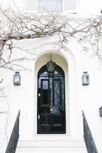 elegant black & white exterior