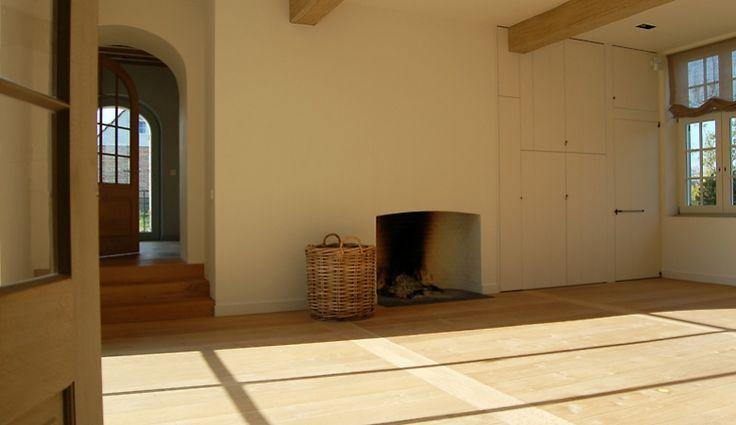 stylish simple fireplace