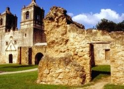 San Antonio, Texas Tourism Travel Places:Texas Mission Conception San Antonio