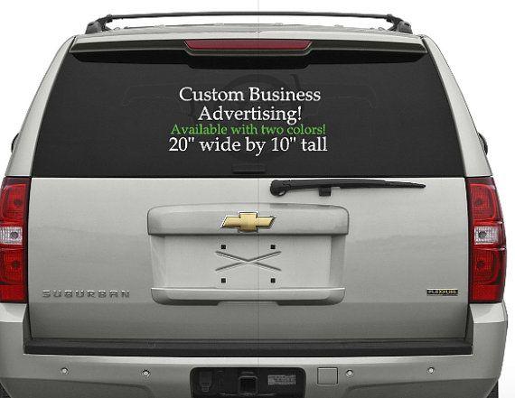 Best Advertising Images On Pinterest Vinyl Car Decals Custom - Custom car decal advertising
